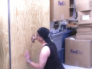 Two Bearded Studs Swap Blowjobs At A Sex Store Gloryhole