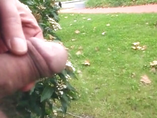 My boyfriend pissing in public and me filming him
