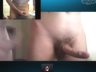 Playing on skype with pair fuck