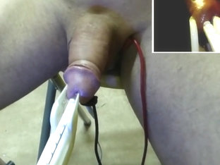 fucking rod notched machine + estim cock 01