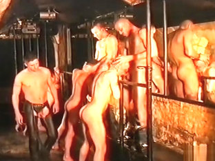 Spankings in the cellar club