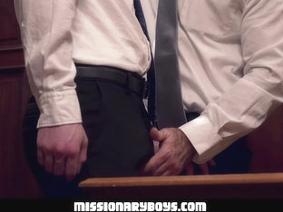 MormonBoyz - Burly Priest Fills A Missionary Boy's Butt With Girthy Cock