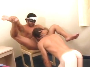 straight guys gagging on cock