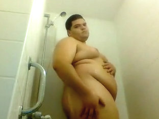 Chub taking a shower