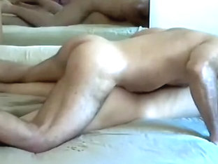 Cute boy is beating off within doors and filming himself on webcam