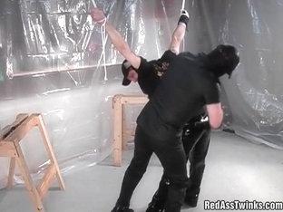 Nasty guy spanked hard