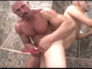 Muscled not dad fucks raunchy boy