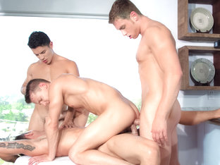 Plays Together XXX Video: Connor Maguire, Ryan Rose, Lance Luciano, Darius Ferdynand