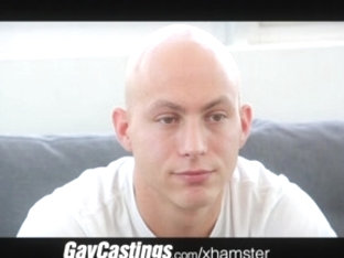 GayCastings bald erotic dancer acquires smooth firm a-hole load