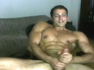 Exotic male in amazing handjob, hunks gay sex video