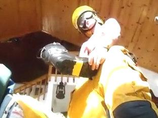 Haix Fire Hero two Boots Loving Jacking Humping Cum Dec 2013