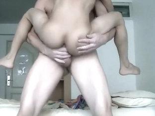 White Top Uses Eager Asian Bottom 04