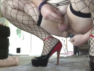 Crossdresser webcam session