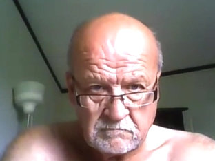 Grandpa cum on webcam 4