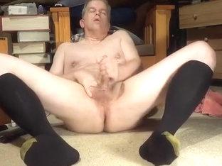 masturbating in lengthy darksome socks