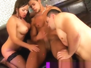 Bisexual group orgy fucking sucking and cumshots