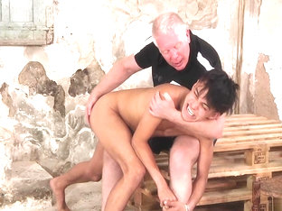 Young Hawaiian boy stripped and spanked
