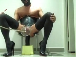 Masculine fetish Uncut Tranny Pump and Cum