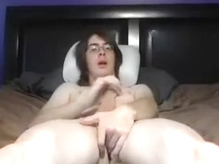 Enchanting gay is masturbating in his room and filming himself on camera