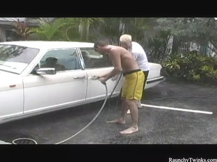 RaunchyTwinks Video: Andre and Joey's hot carwash