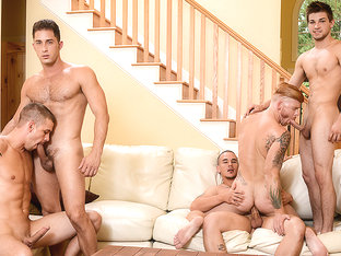Adam Bryant, Armando De Armas, Bennett Anthony, Darin Silvers, Johnny Rapid in Stop In - JizzOrgy
