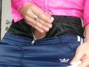 Adidas Nylon Shorts CUMPILATION 25 vollgewichste Glanzshorts