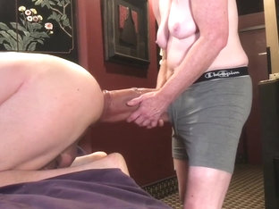 Pegging with huge dildo