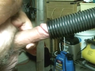 Cock sucked off by shop vac