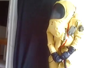 Trellchem Level A Hazmat Suit Inflation Photo Shoot