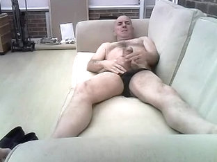 Me wanking on sofa
