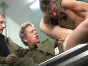 Guys having fun in the army kitchen!!!