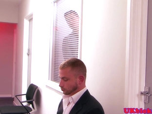 British office hunk rimming and assfucking