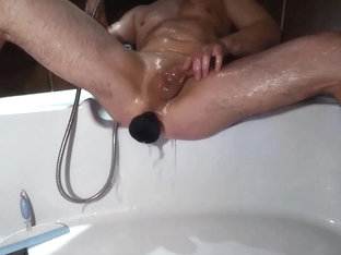 huge anal toy slow motion