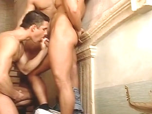 Three Hot Dudes In Steamy Three-Way Fuck