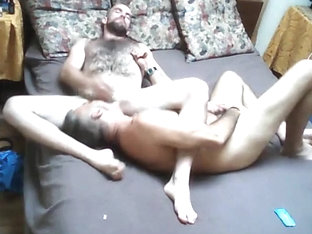 Horny Bear and His Older Friend In A Bedroom