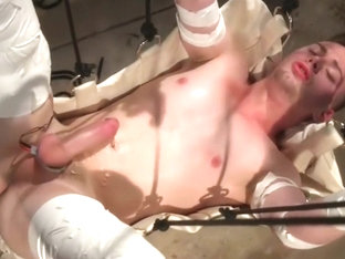 Fabulous male in incredible big dick, fetish gay sex clip