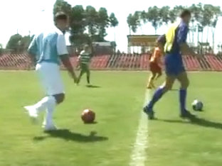 Two soccer players enjoy hot gay sex