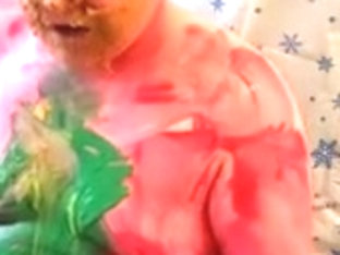 Painted & Gunged Christmas Chub