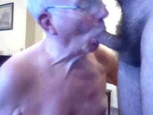 Grandpa suck on webcam 1