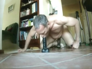 dildo riding dad