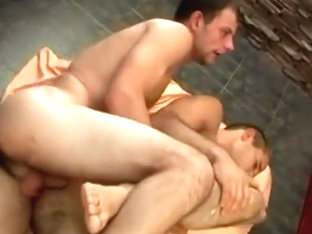 Nasty gay friends try it bareback