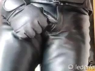 Hein Gericke leather panties rubbing