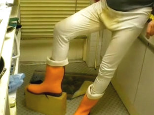 nlboots - underwear orange boots