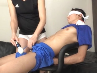 Blindfold Japanese Edged To Cum