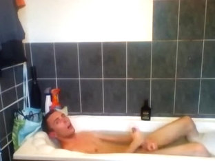 Twink jerking off in the bathroom