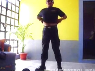 Mexican Cop Stripping