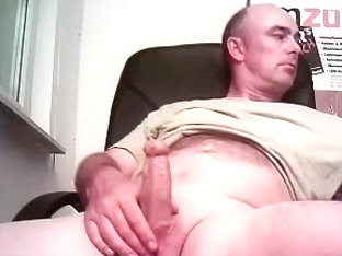 Dishy poof is having a good time in a small room and filming himself on computer webcam