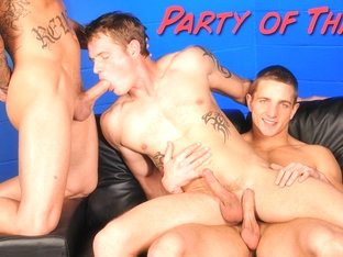 Marcus Mojo & Sebastian Young & Trent Diesel in Party Of Three XXX Video