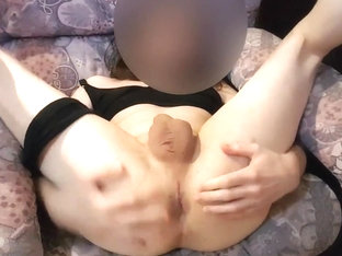 Ass  gaping  no hands cumshot