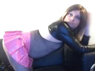 CD in Pink Miniskirt Fucks Asshole